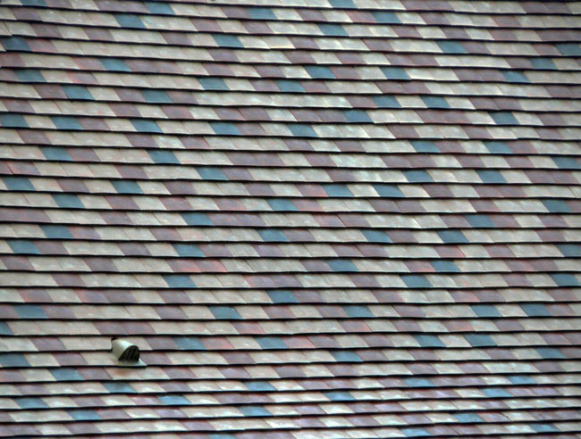 Colored Roof Roof Tiles Architecture Roofed Day Exterior Full Frame 4x3photography
