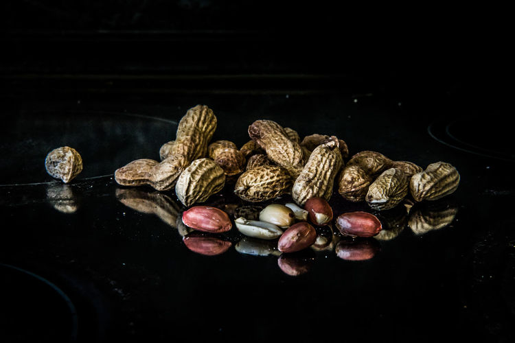 Nuts Black Background Close-up Day Food Food And Drink Freshness Healthy Eating High Angle View Indoors  No People Nut - Food Studio Shot Kardzhali The Week On EyeEm Food Stories