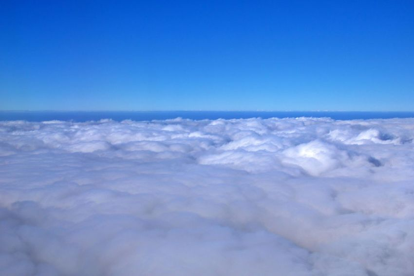 Sky Cloud - Sky Blue Cloudscape Atmosphere Scenics - Nature Aerial View Nature Environment No People Outdoors Meteorology Climate Softness Tranquility Space Beauty In Nature Above