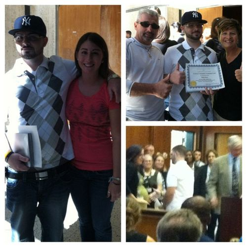 My mom sucks at taking pictures, but niko graduated drug court today ? ?Proudofyou Brother Parents Clean drugfree