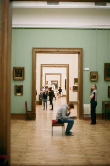 Analogue Photography Door Frame Film Moscow Pensive Russia Art Doorway Gallery Tretyakovgallery