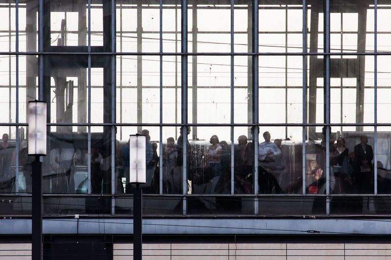 People waiting in train