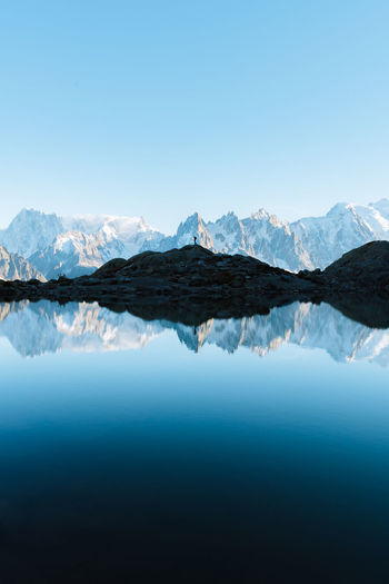Check out my prints at https://simonmigaj.com/shop/ and visit my IG http://www.instagram.com/simonmigaj for more inspirational photography from around the world. Travel Adventure Landscape Beautiful View Mountain Mountains Reflection Reflected  Water Lake Lac Blanc Alps Mont Blanc Chamonix Water Mountain Snow Clear Sky Symmetry Lake Blue Reflection Snowcapped Mountain Sky Reflection Lake Standing Water Calm Lakeside Snowcapped My Best Photo