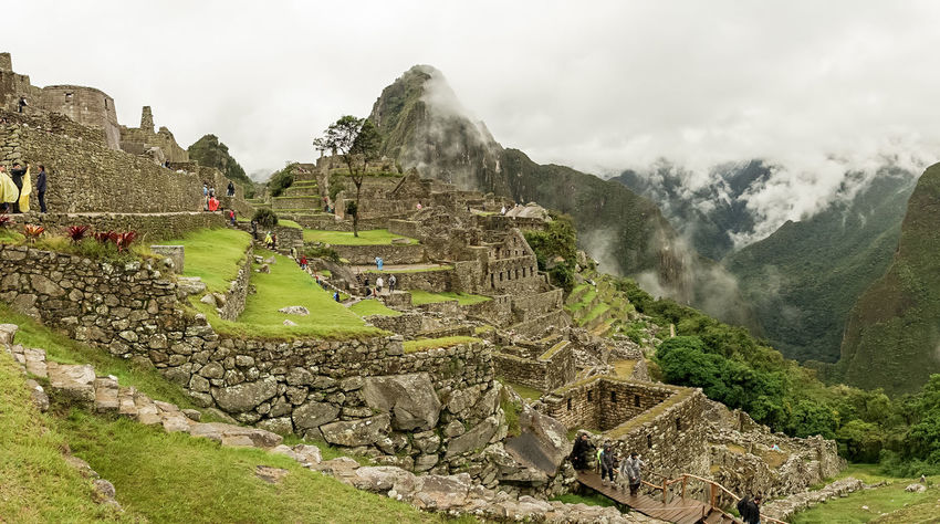 America Ancient Anden Bucket List Cloud Fog Inca International Landmark Landscape Machu Picchu Mist Mountain Old Peru Rain Ruins Season  Sky South Travel Traveling Wall Landscapes With WhiteWall