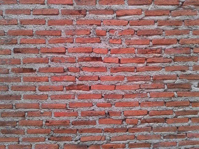 Backgrounds Full Frame Pattern Textured  Brick Wall Rough Red