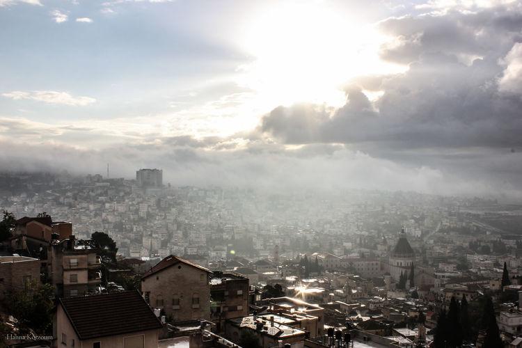 City Cityscape Fog Hanna HannaKorzoum Hk Israel Korzoum Morning Nazareth No People Travel Destinations View Wintermorning
