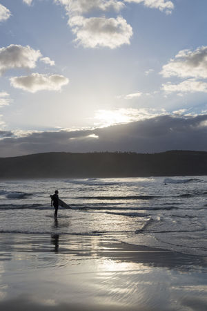 Australia Travel Beauty In Nature Cloud - Sky Land Leisure Activity Lifestyles Men Nature One Person Real People Reflection Scenics - Nature Sea Silhouette Sky Sport Sunlight Sunset Travel Destinations Water