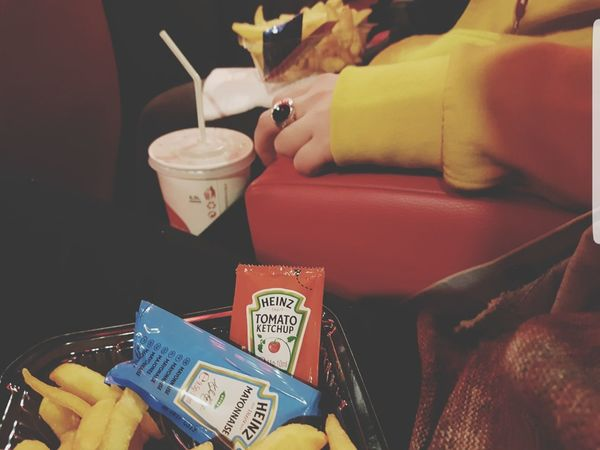 Wealth Luxury Table Indoors  Black Background No People Night Food king - royal person Close-up Cinema Heinz Ketchup Mayonnaise Cola Cocacola