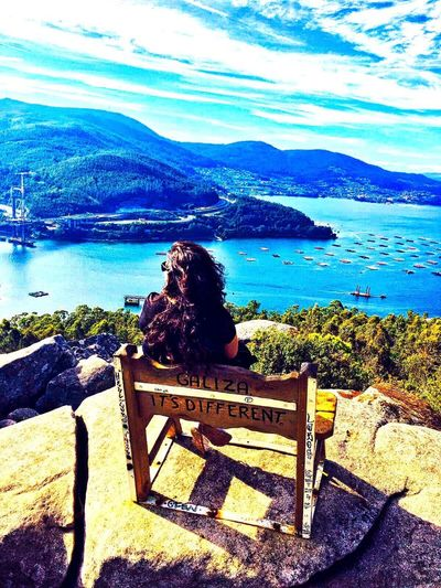 Redondela (Vigo,Pontevedra) Day Tranquil Scene Horizon Over Water Landscape Tranquility Travel Destinations Travel Tourism Blue Water Sea Beauty In Nature One Person Sky Tranquility Nature