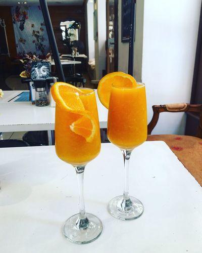 Orange juice for two 🍊🍊