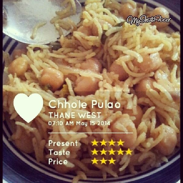 Chhole Pulao Recipee Thane Mumbai Foodpic Foodie Myinstafood Delicious GetInMyBelly Instafood Yum Yummy Food Photooftheday Picoftheday
