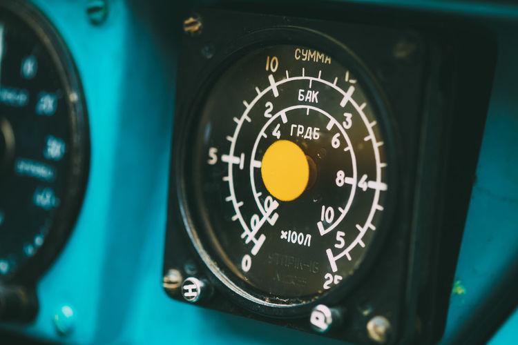 Close-up of gauge