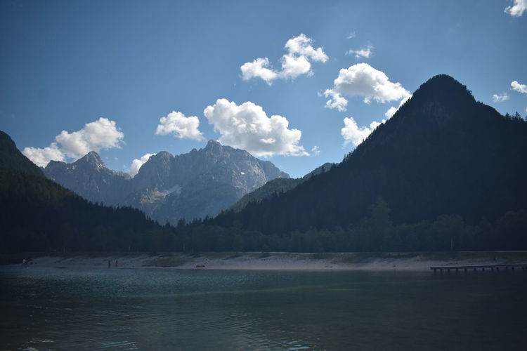 Lakes & Mountains in Lake Jasna, Slovenia Mojstrana Slovenia Beauty In Nature Cloud - Sky Day Idyllic Lake Lake Jasna Mountain Mountain Peak Mountain Range Nature No People Non-urban Scene Outdoors Plant Scenics - Nature Sky Tranquil Scene Tranquility Tree Water Waterfront