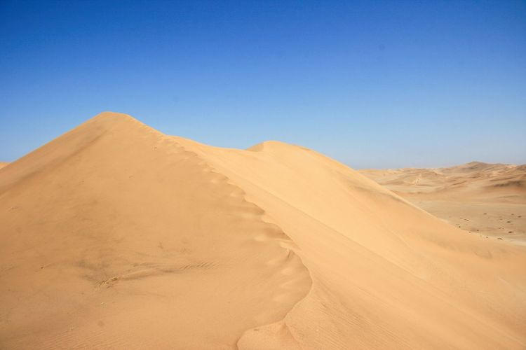 Sand dunes and patterns in nature along skeleton coast, nambia.
