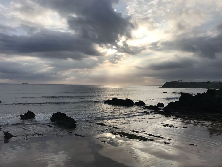 Candás in the Morning Water Sea Sky Cloud - Sky Horizon Over Water Horizon Scenics - Nature Beach Tranquility Tranquil Scene Nature Outdoors Reflection Idyllic