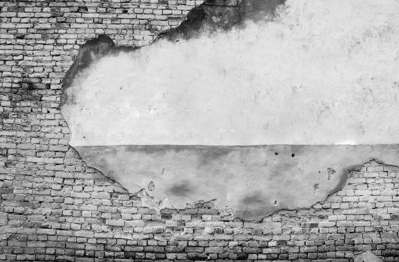 Smoke emitting from brick wall