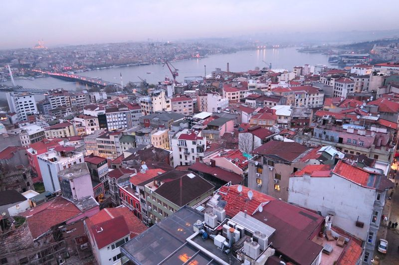 Istanbul Town Istanbul Panoramic Density Houses Red Roofs Aerial View Cityscape City Urbanization Development EyeEmNewHere