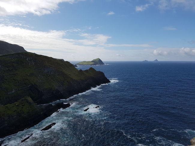 Refreshing view from Kerry cliffs, County Kerry, Ireland. Sea Water Beach Sand Wave Sky Horizon Over Water Cloud - Sky Coastline Ocean Coastal Feature Seascape Rocky Coastline