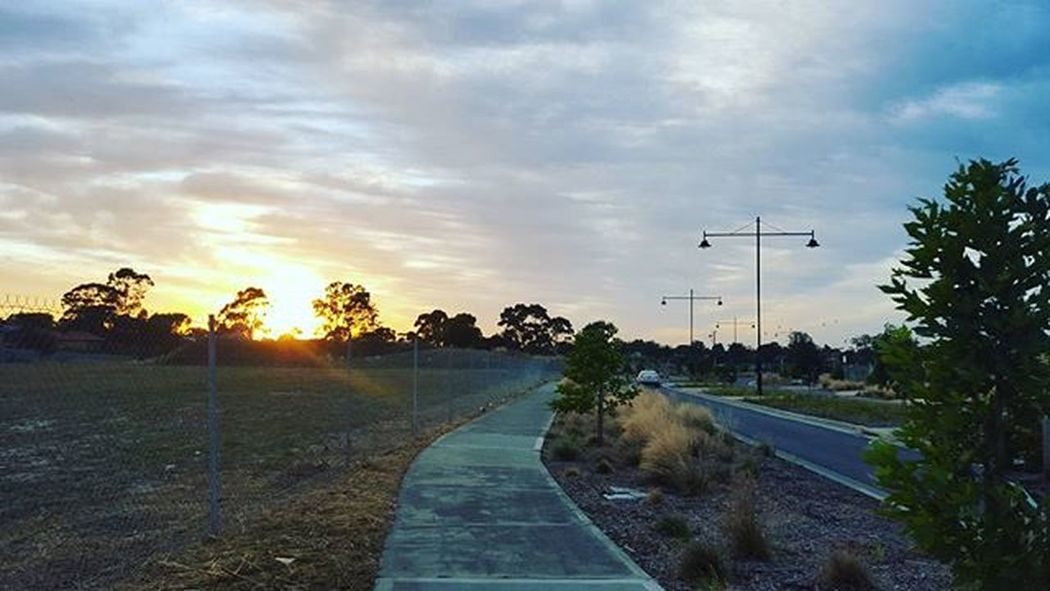 The world was waking up and I was awake and going to work! Pentridge Walk Sunrise Clouds Photograpy Isellphotos Iamanentrepreneur Education Nature Path Road Urban Northernsuburbs Melbourne Australia Moreland