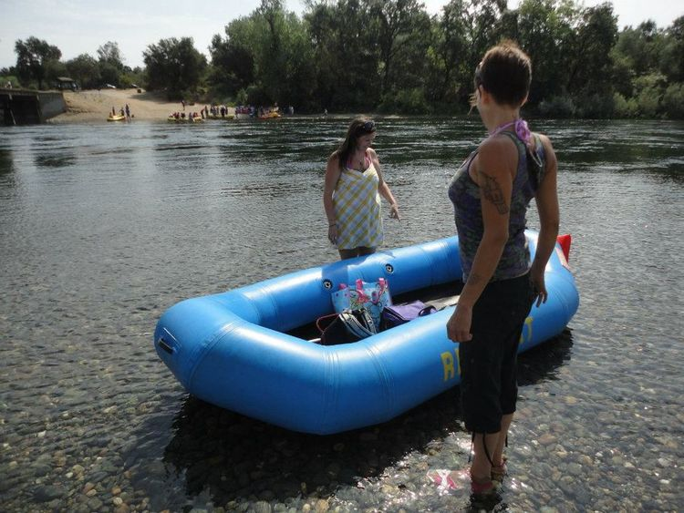 Summertime American River Float Down The River Norcal Essence Of Summer Daytime Rafting Adult Fun Two Women Day Off Adventure Club