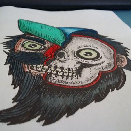 """""""Depois de dividir a colorização em 10x sem juros no cartão. """" Eu finalmente terminei a primeira. 😉😉 Zumbis Zumbipracolorir Color Ilustração  Colorbook Lapisdecor"""