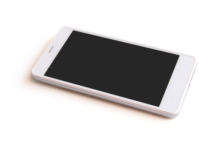 White smartphone with blank screen standing isolated on white background with clipping path Horizontal Isolated Blank Blank Screen Clipping Path Close-up Communication Connection Copy Space Cut Out Device Partes Device Screen Front View Mobile Phone No People Screen Single Object Smart Phone Studio Shot Surfing The Net Technology Telephone Touch Screen White Background White Color