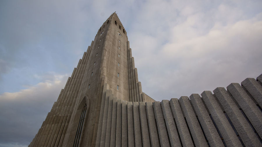 Evangelical Lutheran Church of Iceland - Hallgrímskirkja Sky Architecture Built Structure Cloud - Sky Building Exterior Low Angle View No People Building Nature Day Travel Destinations Belief Religion Outdoors Travel Tall - High Pattern Place Of Worship Tourism Spirituality Ancient Civilization Church Architecture Iceland Reykjavik