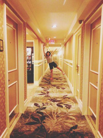 Corridor and shouting!!