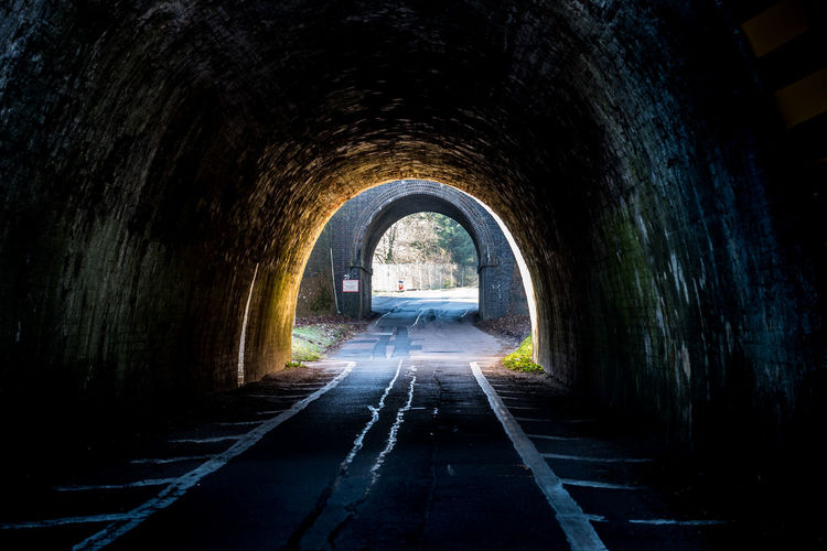 Road In Tunnel