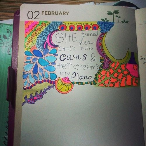 She promised to finish this before June. Haha. Already missin' my artsy dayssss. Art Doodle Quoteoftheyear Fanart
