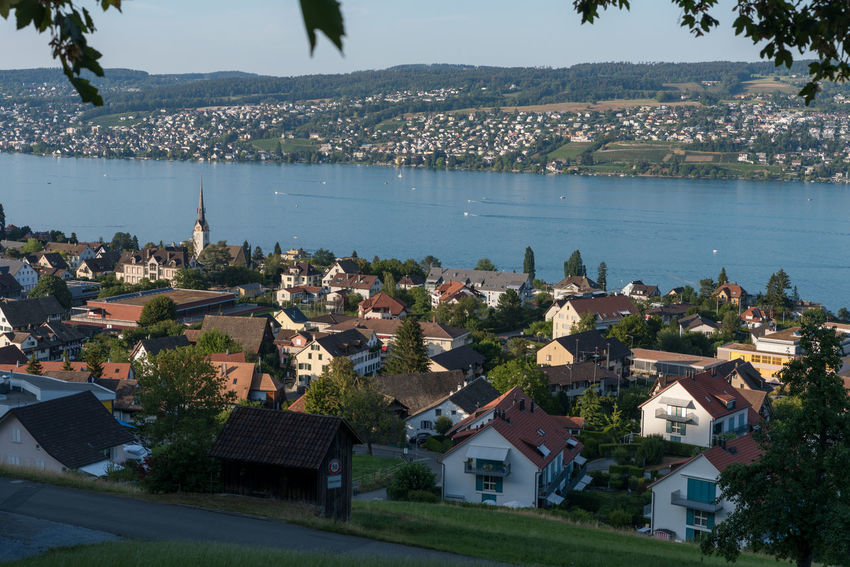Zürichseerundweg Hiking Trail Waldweg Wanderweg Architecture Building Building Exterior Built Structure City Day Forest Track Fußweg High Angle View House Mountain Nature No People Outdoors Plant Residential District Roof Sea Switzerland Town TOWNSCAPE Track Trail Tree Water