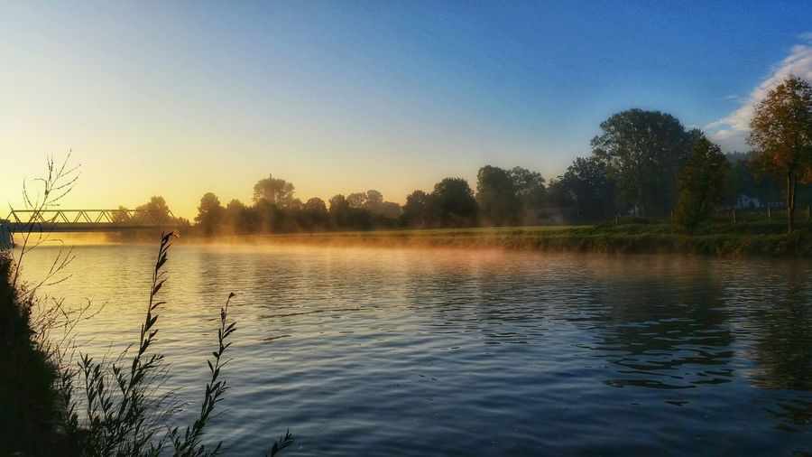 This Is Germany @ Mittellandkanal Water_collection Colors Of Autumn Fog_collection Glowing Gone Fishing Golden Hour Landscapes With WhiteWall