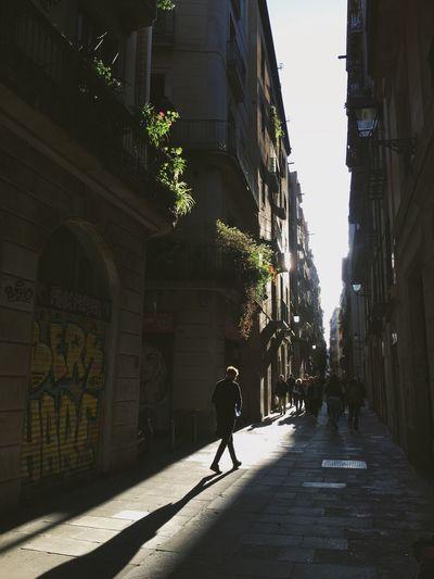 Street Sunlight One Man Only Shadow Light And Shadow Lights Sunset Silhouettes Silhouette Streetphotography Walk Walking Alone... The Street Photographer - 2017 EyeEm Awards