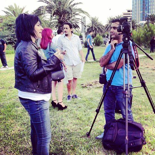 Rim El Benna présente au sitin FreeJabeur