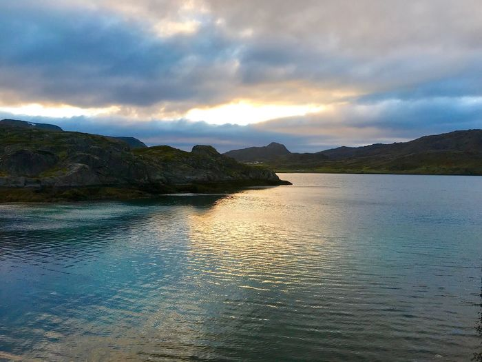 Fjord in Norway Water Sky Cloud - Sky Scenics - Nature Beauty In Nature Tranquility Tranquil Scene Nature Mountain Sunset Sea No People Reflection Land Idyllic Outdoors Non-urban Scene