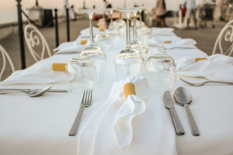 Close-up Day Drink Food Food And Drink Fork Indoors  No People Place Setting Plate Ready-to-eat Restaurant Table Tablecloth Wineglass