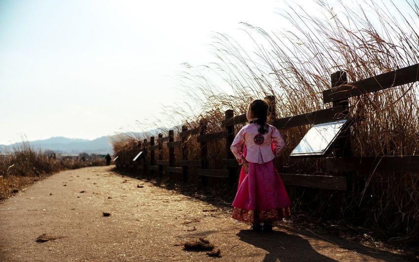 Korea Junam Reservoir 주남저수지 조카 한복 Korea Traditional Dress Hanbok