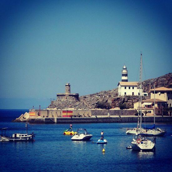 Sea tweet with lighthouse. SeaTweet Portdesóller Baleares SPAIN VacationTweet