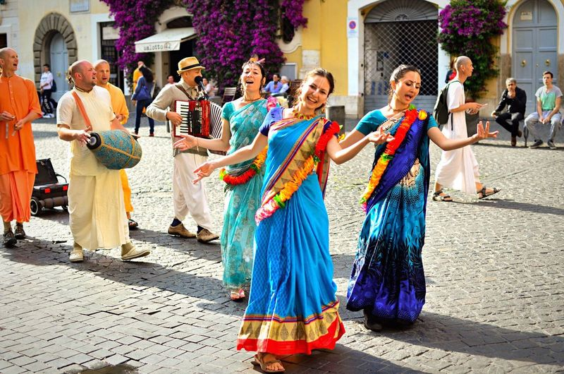 People dancing in event