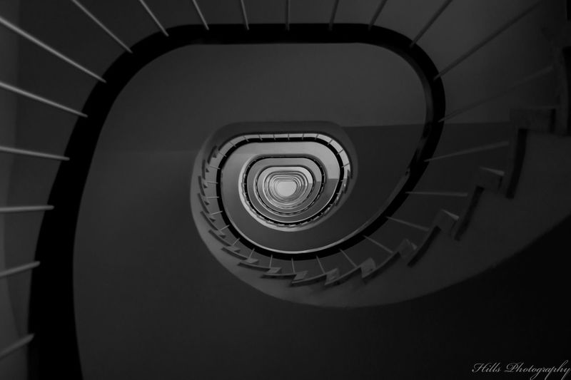 infinite ladder Zürich Zurich, Switzerland Ladder To Nowhere Ladders Architecture Blackandwhite Black And White Steps And Staircases