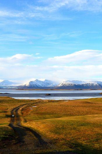 Distant View Of Vatnajokull Against Sky