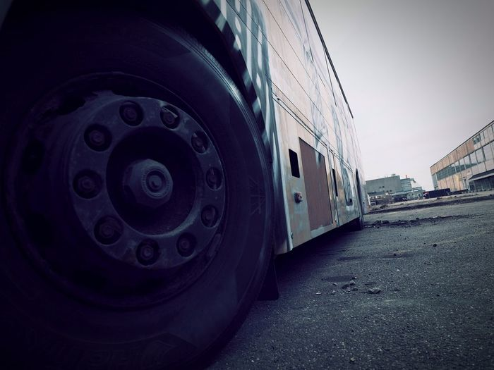 Urbex Denmark. A very old bus Streetphotography Urban Urban Exploration Urbex Urbexphotography Old Bus Tire Copenhagen Denmark Copenhagen, Denmark Refshaleøen Tire Sport Industry Business Finance And Industry Sky