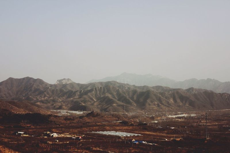 View of mountain range against the sky
