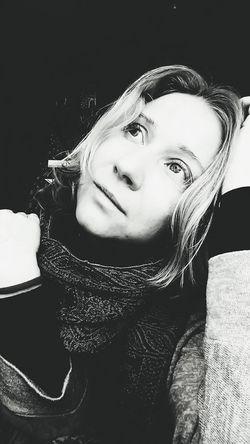 Monohrome Photography #emotions Portrait Of A Woman Beautiful Woman Human Face Headshot Studio Shot Eyes Closed  Front View