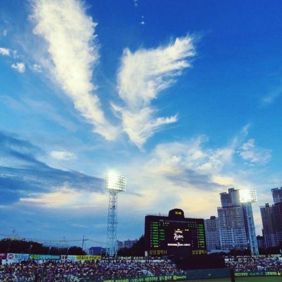 Baseball Baseball Field Samsung LIONS Sky Clouds Scoreboard
