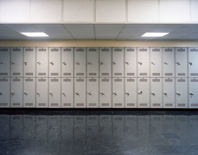Locker Indoors  Dressing Room Locker Room No People Safety In A Row Security Side By Side Protection Gray Building Mail Wall - Building Feature Mailbox Flooring Day Repetition Metal Architecture Visual Creativity Adventures In The City