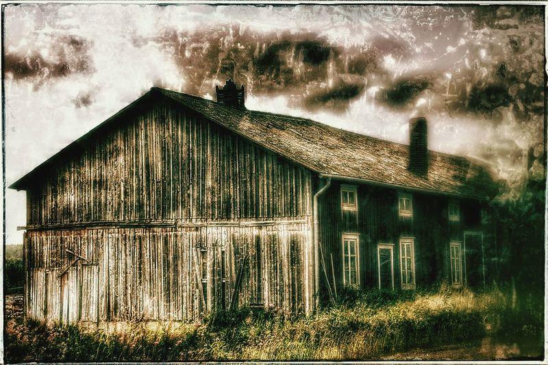 Photographic Memory Old Barn Abandoned Barn Barnporn Barn #barnporn #spring #nature #hdr #color Sweden Europe