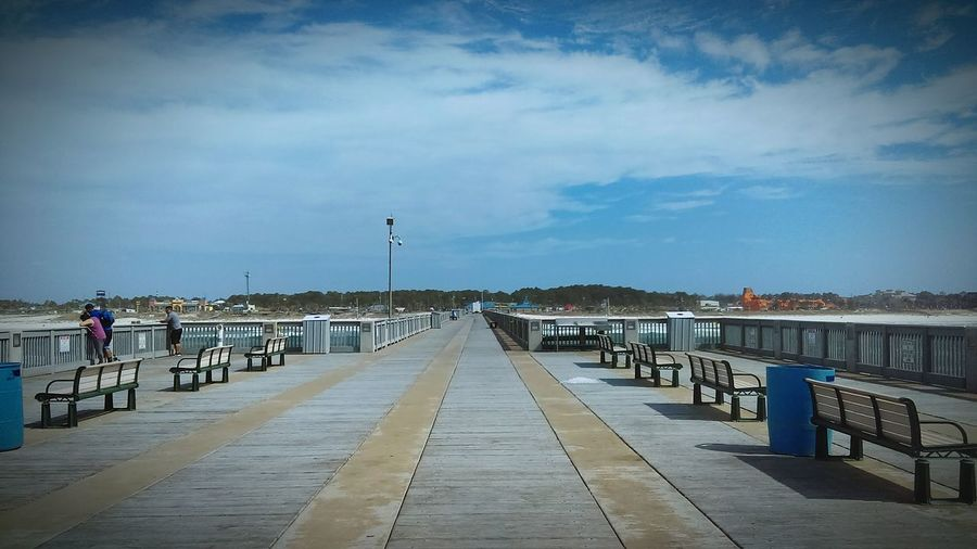 Water Pier Outdoors Bridge - Man Made Structure Sea Sky Day Sommergefühle Beach Fishing EyeEmNewHere Investing In Quality Of Life