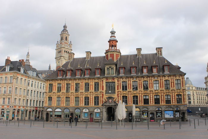 Architecture Business Finance And Industry City Cityscape Clock Day France Lille Medieval No People Outdoors Sky Street Travel Destinations