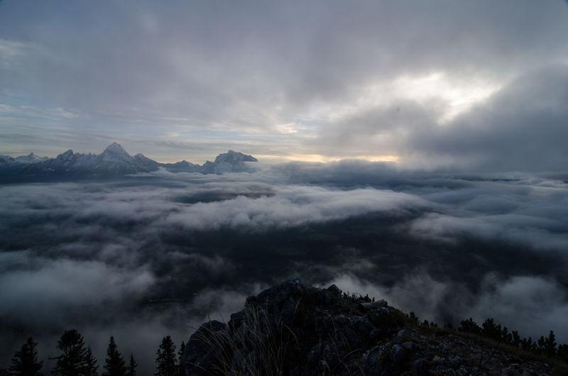 Berchtesgaden Berchtesgaden Alps Cloud - Sky Clouds And Sky Idyllic Mountains No People Outdoors Peak Rauher Kopf Scenics Sky Sunset Tranquil Scene Tranquility Untersberg